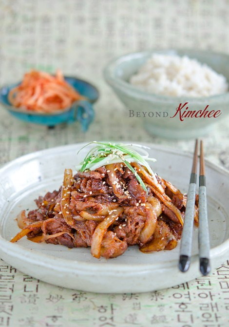 spicy Korean pork