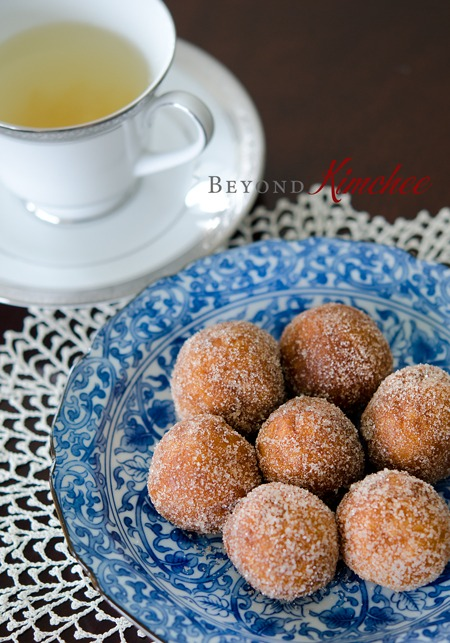 Sweet Potato Rice Donuts are great afternoon treats with a cup of tea.