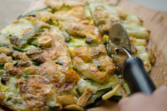 Green Onion Seafood Pancakes