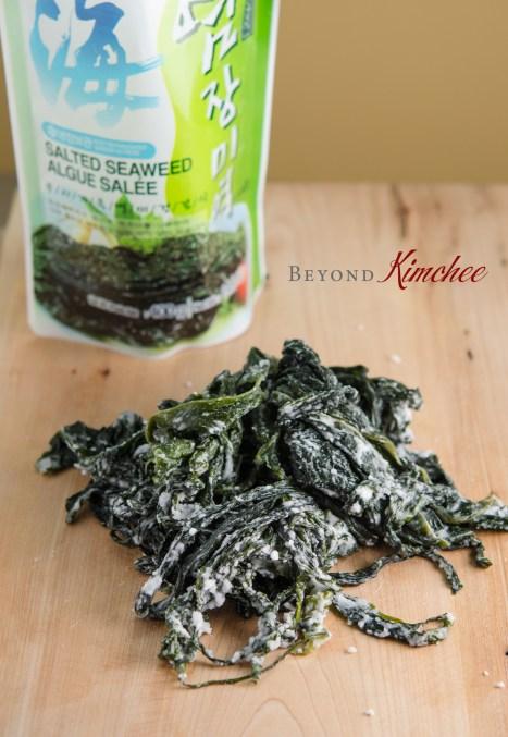 salted seaweed