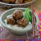 Beef Meat Balls with Pineapple Soy Glaze