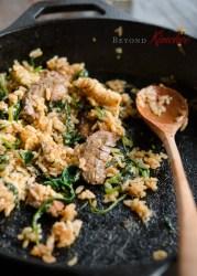 Steak and Spinach Bibimbap