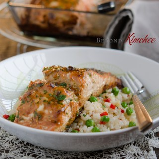 Soybean Paste Glazed Salmon
