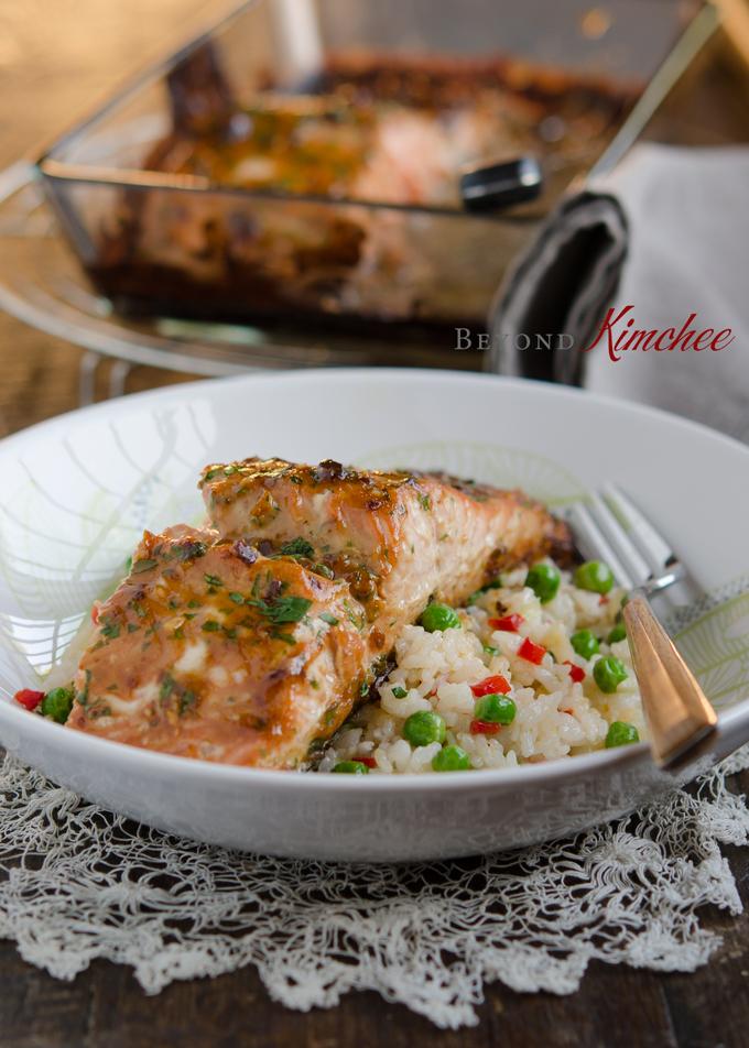 Soybean Paste Glazed Salmon