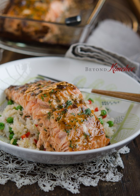 Soybean Paste Glazed Salmon, 연어 된장구이
