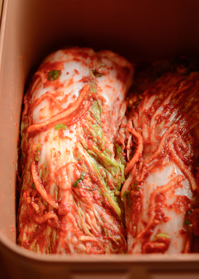 Try making authentic cabbage kimchi in a slightly different way