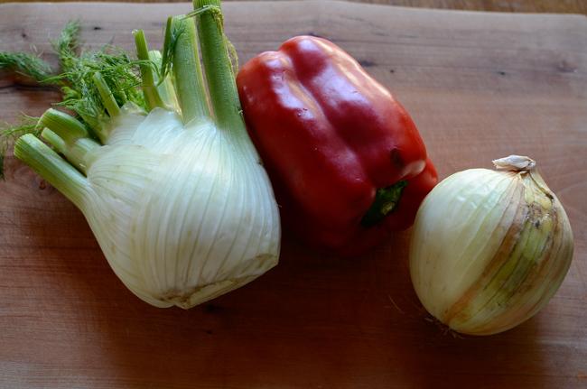 Chicken Fennel Pepper Onion Roast