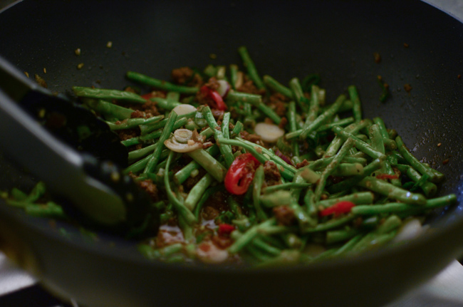 Snake Beans with Beef Sauce-5