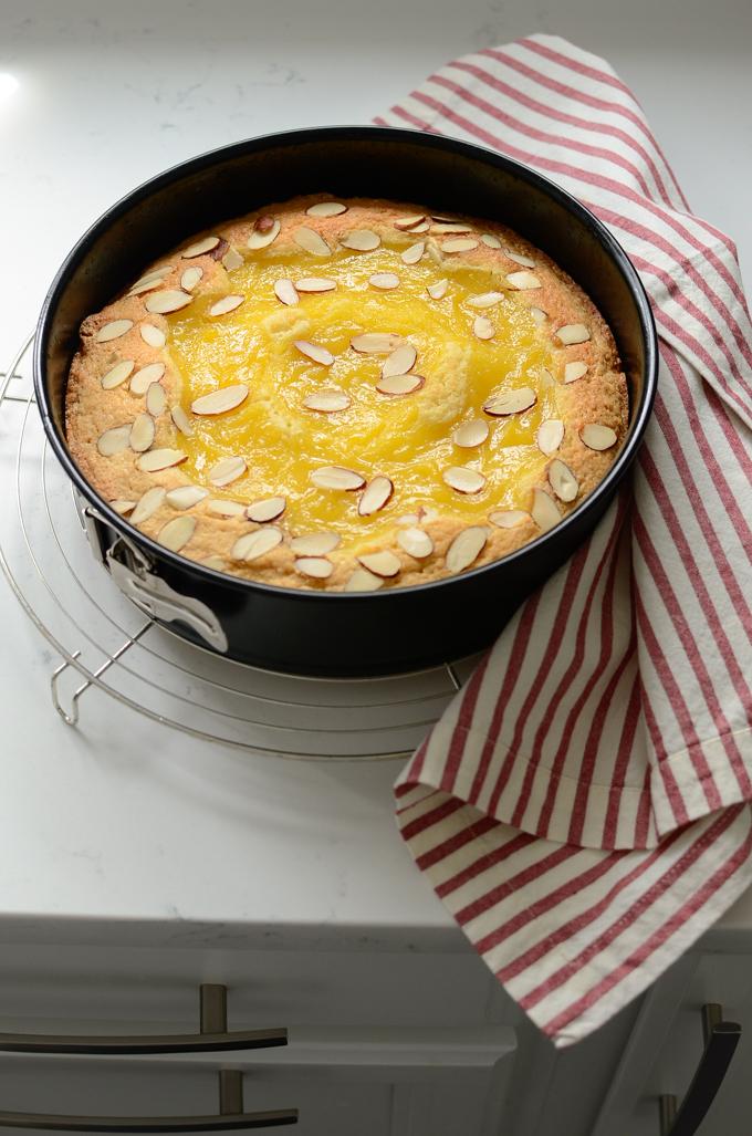 Lemon Custard Almond Cake