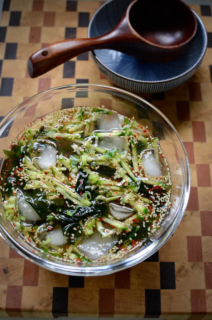Korean Cold Seaweed Cucumber Soup