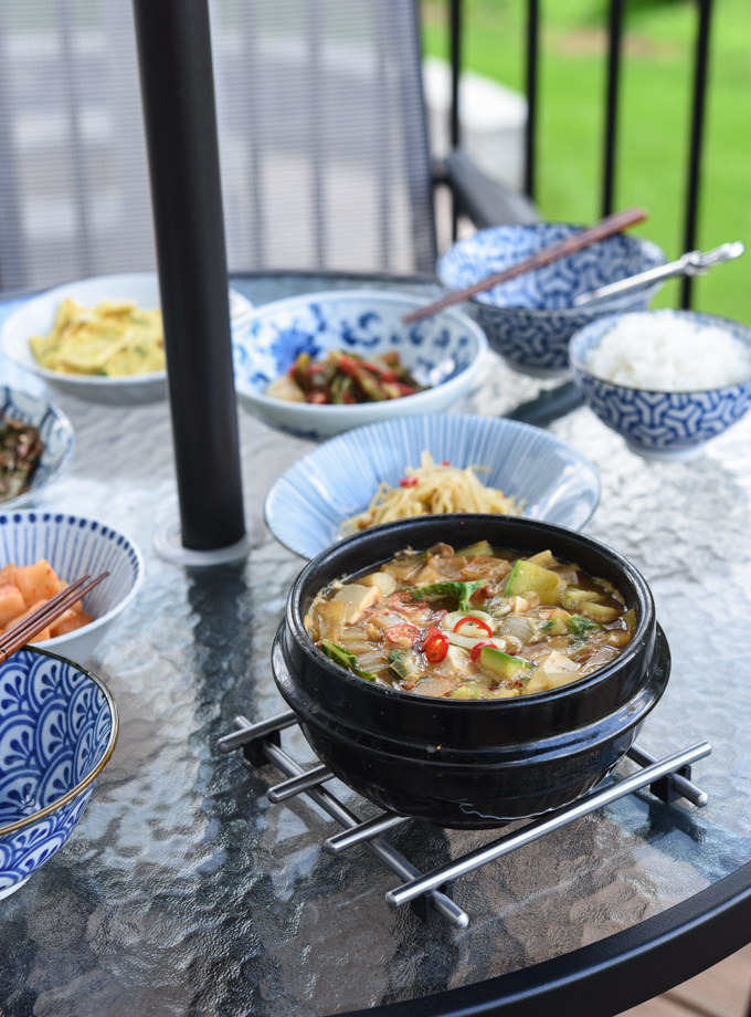 Korean doenjang jjigae (soybean paste stew) stock