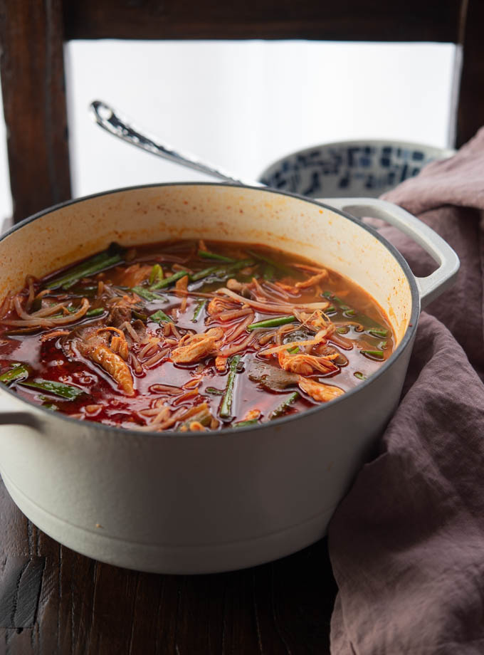Spicy Korean Chicken and vegetable Soup