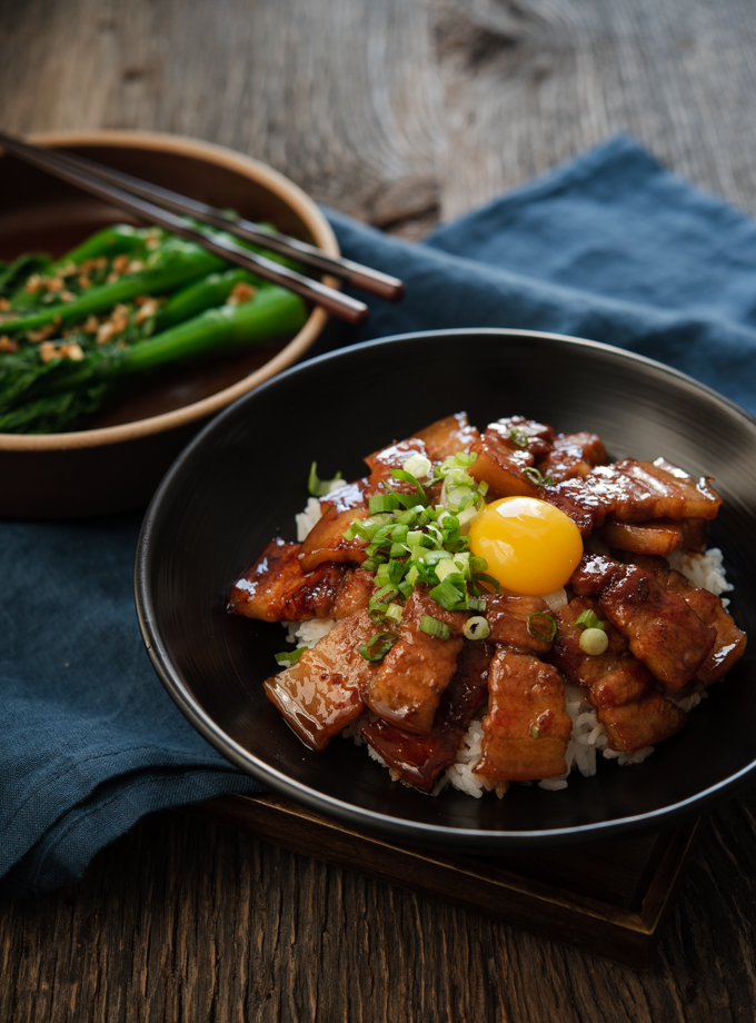 Butadon (Japanese pork belly recipe) is made with homemade teriyaki sauce.