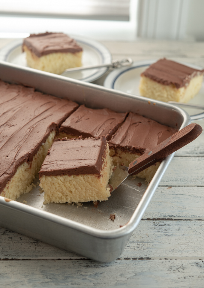 This yellow cake is also known as 1-2-3-4 cake