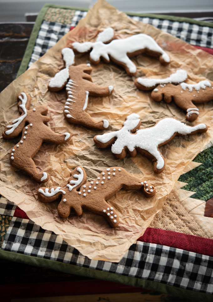 The moose cookie cutter creates beautiful Christmas cookies