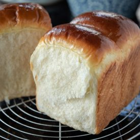 This soft and feathery light Asian milk bread is made without tangzhong