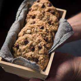 CHocolaet Chip Wheat Germ Cookies are wholesome and chewy cookies