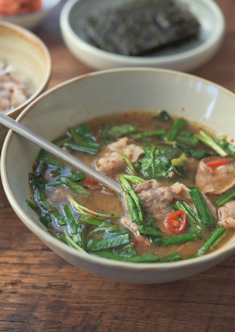 Beef soybean paste soup is light yet robust soup to serve with rice