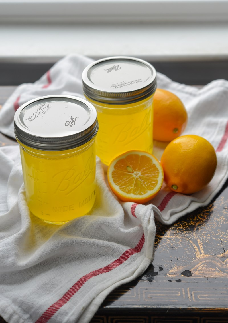 Canning or freezing homemade Meyer lemonade syrup is a great way to store