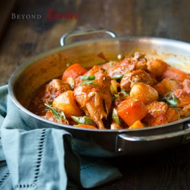 dakdoritang is spicy Korean chicken stew in gochujang sauce