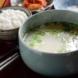 Korean ox tail bone marrow soup