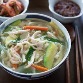 Korean Chicken Noodle Soup (Dak Kalguksu)
