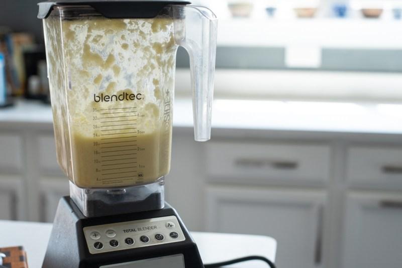 A blender comes in handy to make potato pancake batter.