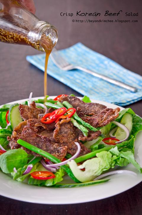 Crisp Korean Beef Salad