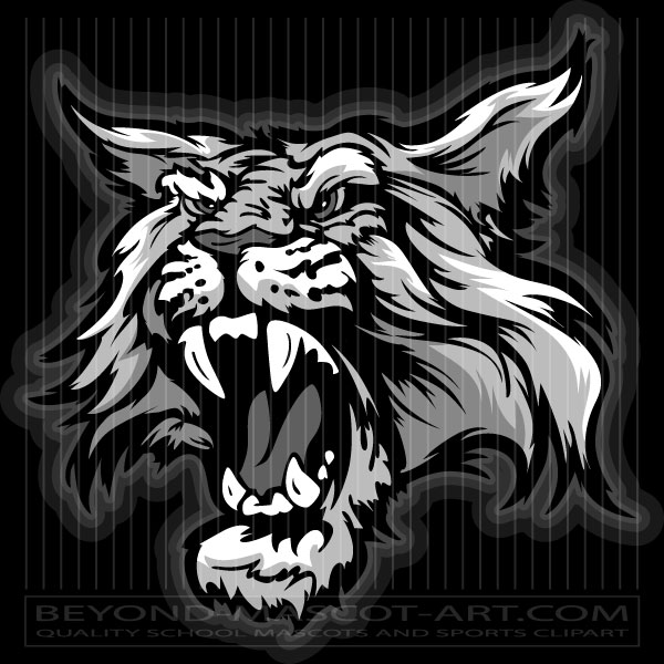 Clip Art Wildcat Mascot Cartoon Vector Mascot Image