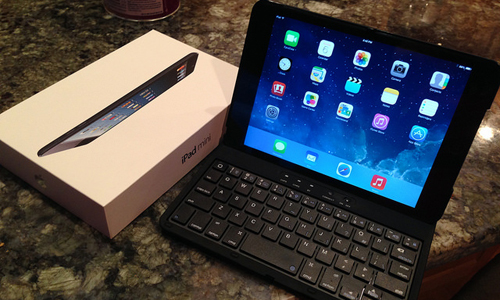 small laptop and ipad