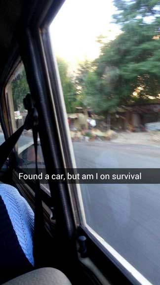 Snapchat of getting lost in Goreme
