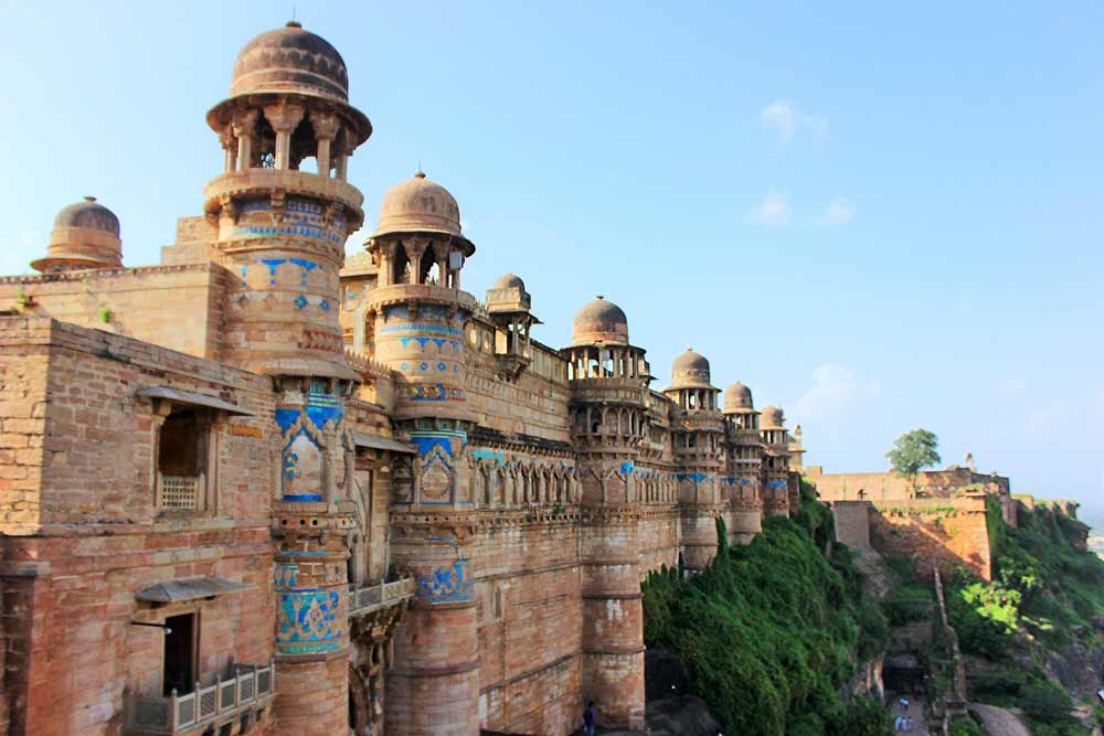 Beautiful Gwalior Fort on a Sunny Day