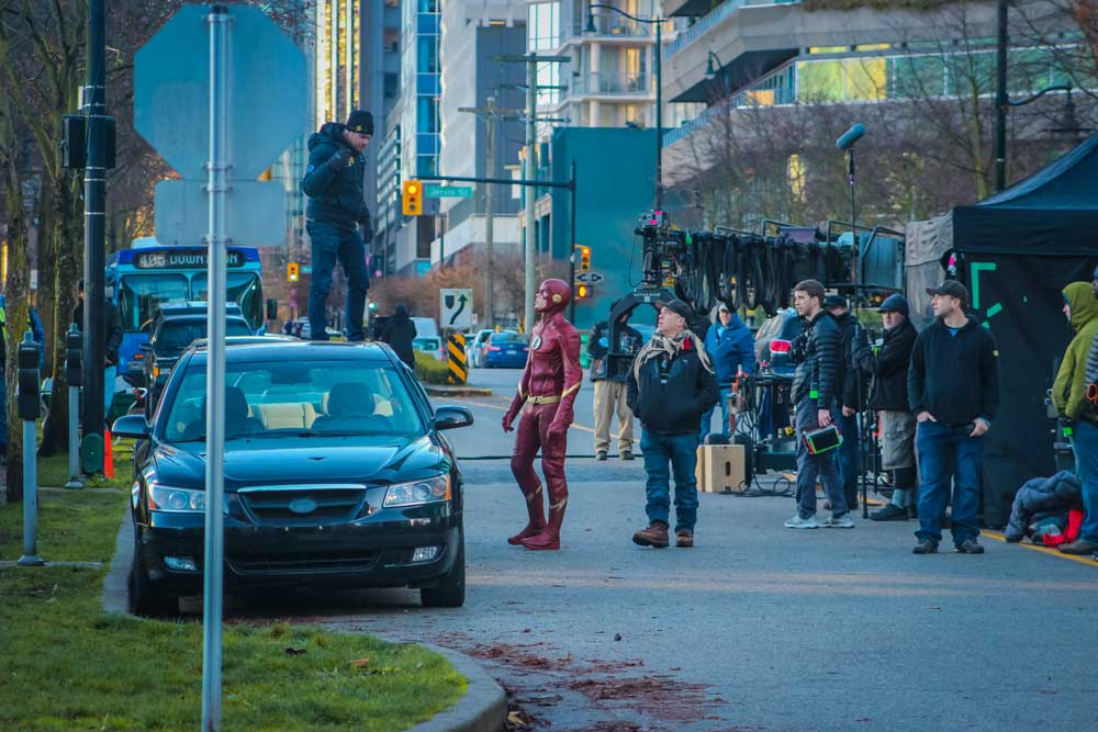 The Flash TV series filming in Vancouver