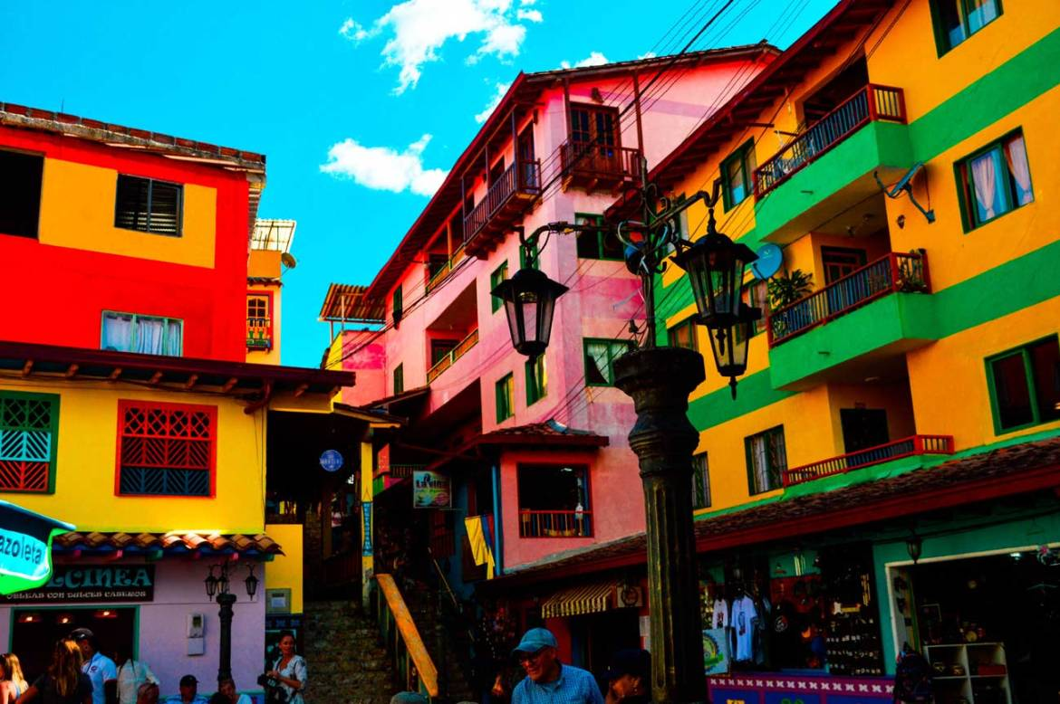 Houses in beautiful Guatape Colombia