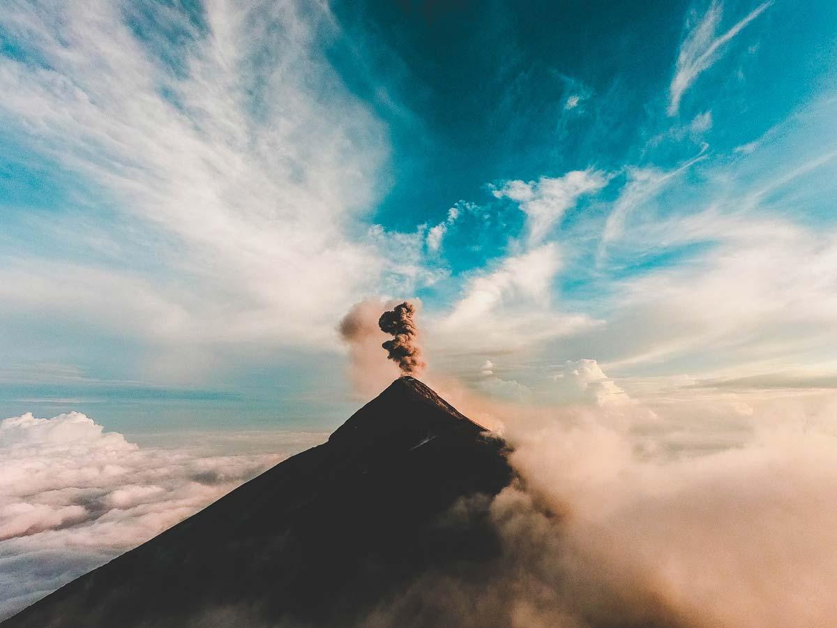 Fuego-volcano in Guatemala