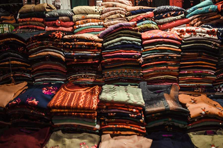 shopping at Sarojini Market
