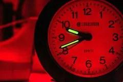 A standard clock posing as a darkroom timer