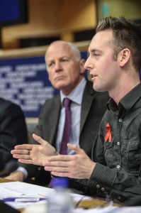 Talking in the European Parliament about HIV stigma