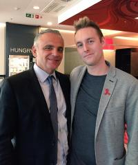 Me with Luiz Loures, Deputy Executive Director of UNAIDS