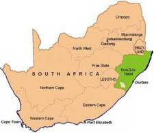 Zululand is a municipality on the east cost of South Africa.