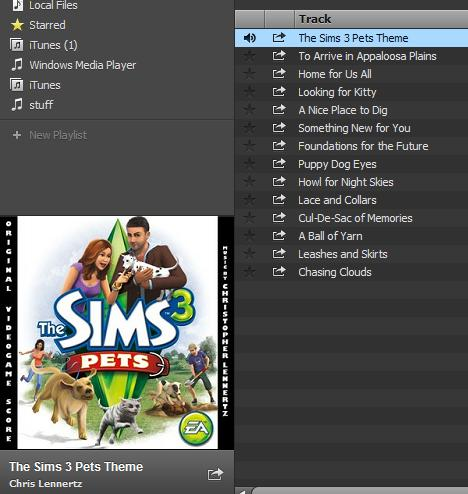 Spotify and The Sims 3 Pets Soundtrack