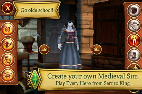 Tapscape Reviews The Sims Medieval for iPhone