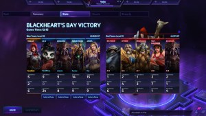 HotS Game 1 Results