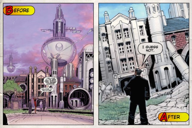 Jean Grey School for Higher Learning - Before and After