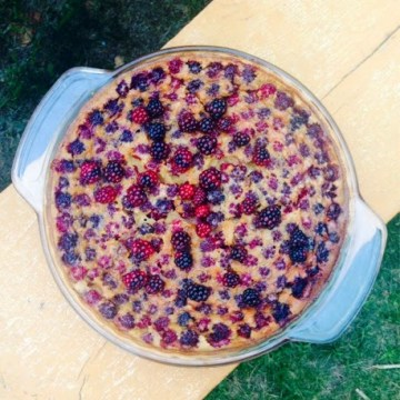 Paleo Black Raspberry Custard Pie