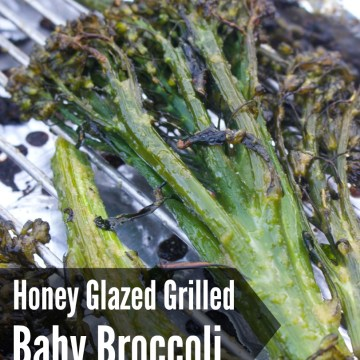AIP Paleo Honey Glazed Grilled Baby Broccoli