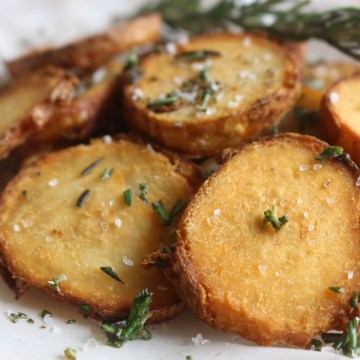 Crispy Crunchy Sea Salt & Rosemary Taro Root Rounds (AIP/Paleo, Low-FODMAP)