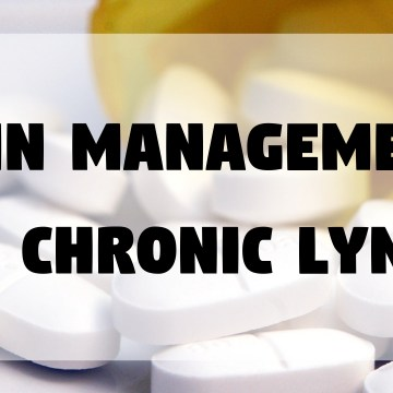 Pain Management and Chronic Lyme Disease