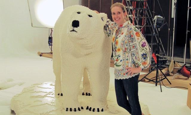 Kirsten with The Lego Polar Bear