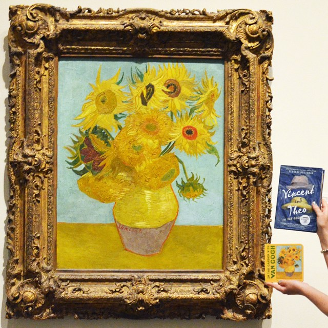 In the Garden with Van Gogh and Vincent and Theo with Van Gogh's famed Sunflowers.
